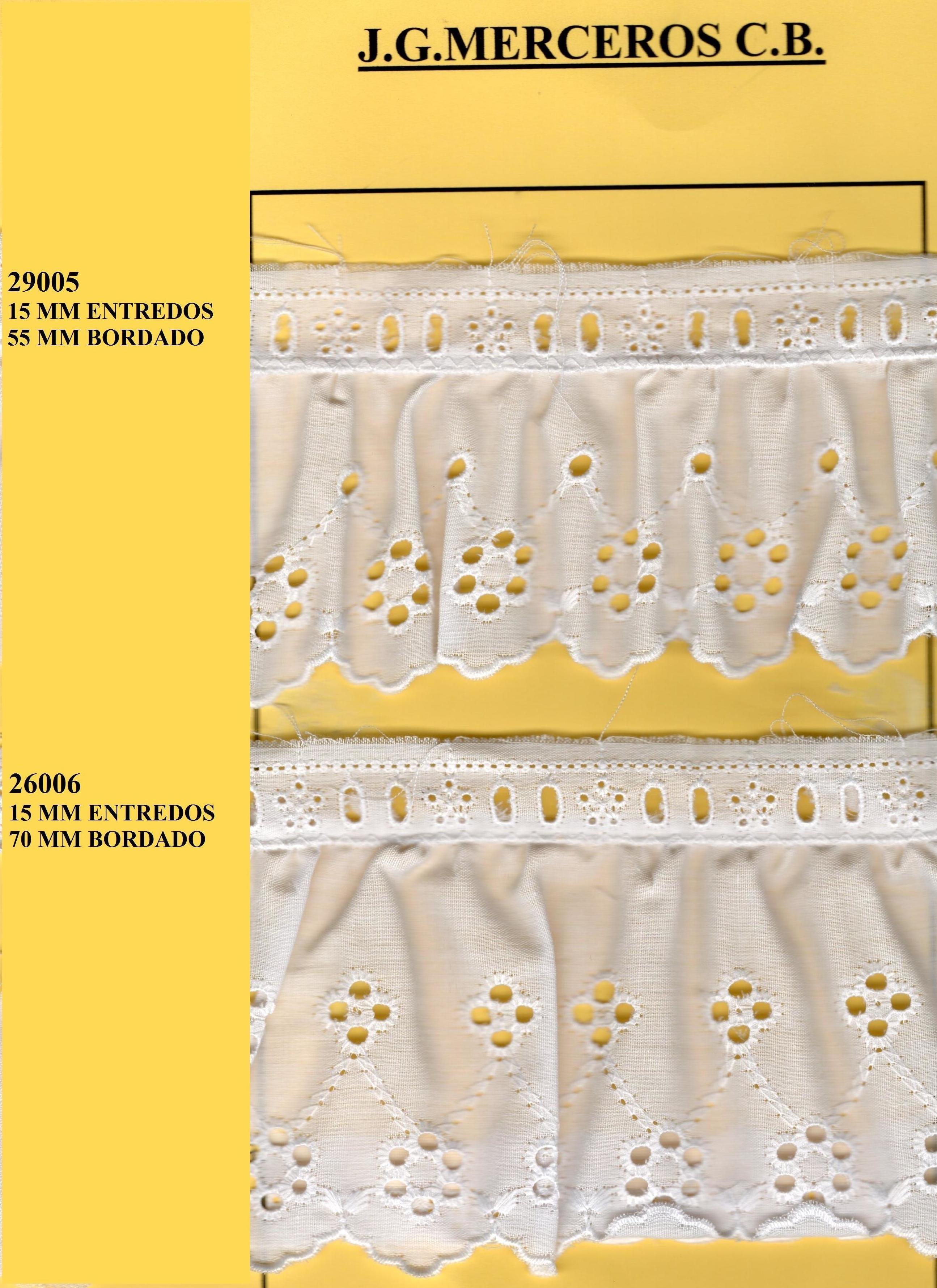 TIRA BORDADA FRUNCIDA 29005-29006