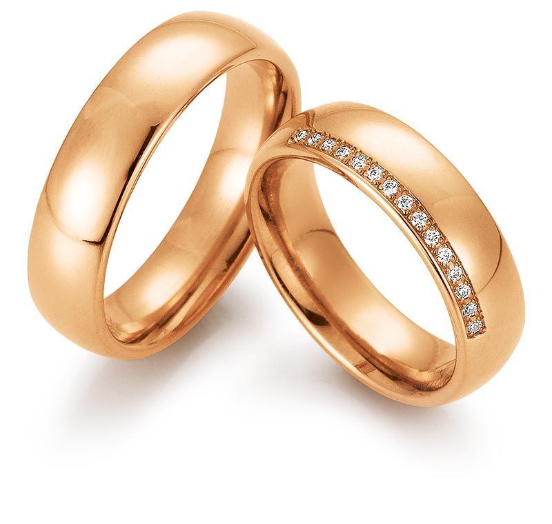 Anillos de oro rosa: Alianzas de My Ring