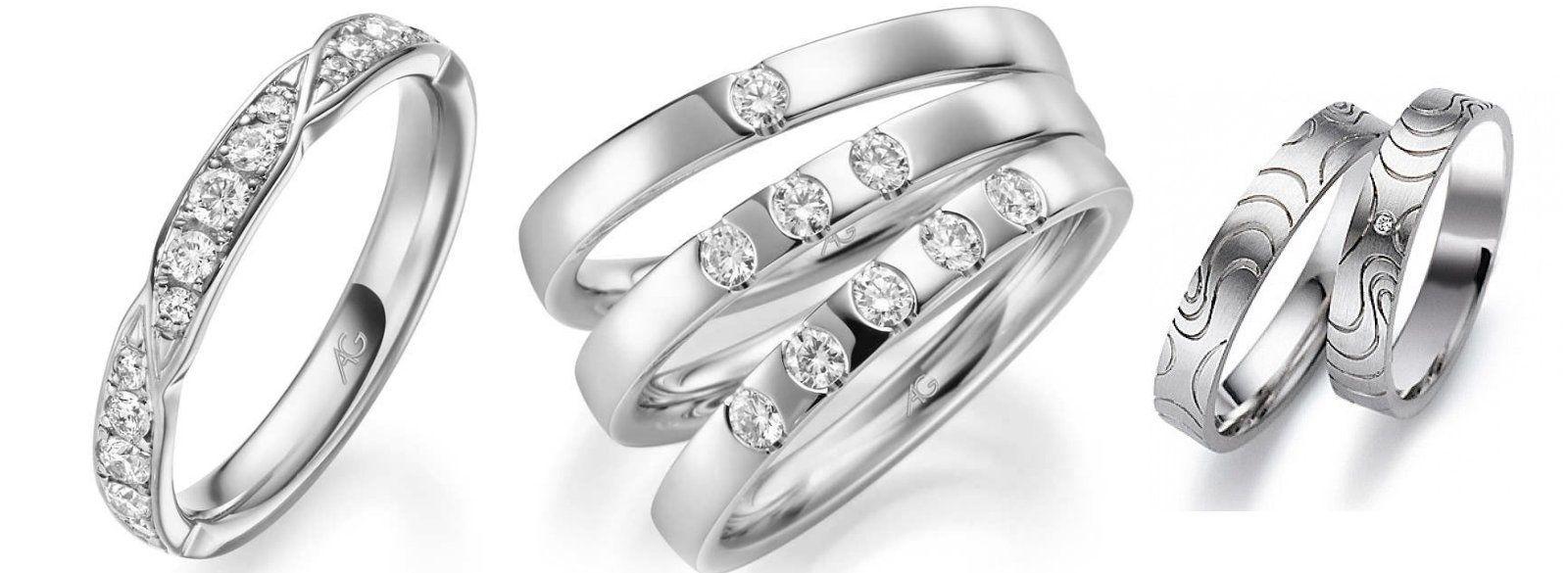Anillos de oro blanco: Alianzas de My Ring