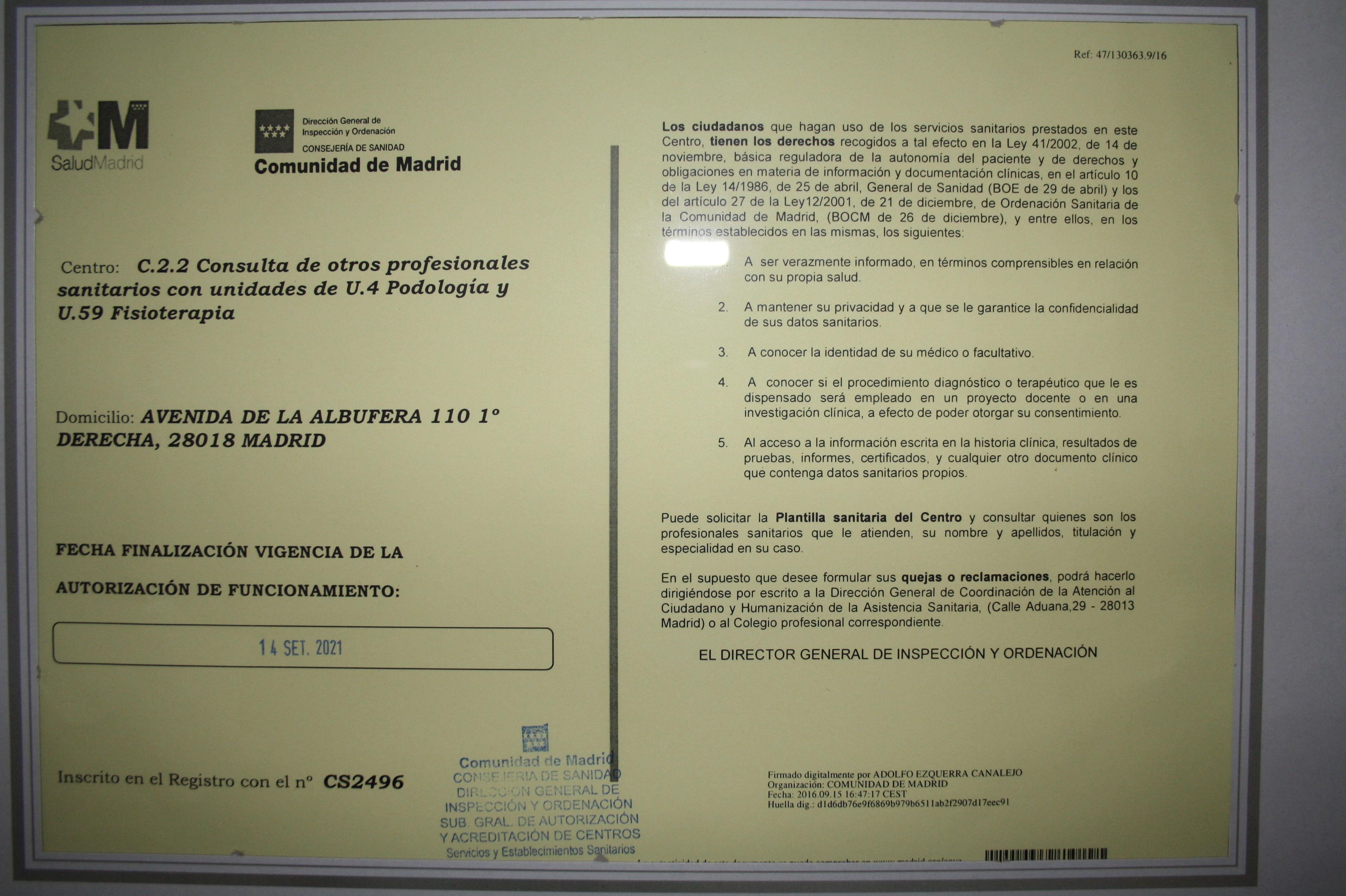 AUTORIZACIÓN CAM