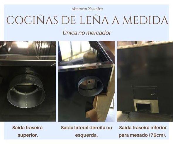 COCIÑAS DE LEÑA CON SAIDA DE FUMES SEGUN NECESIDADES