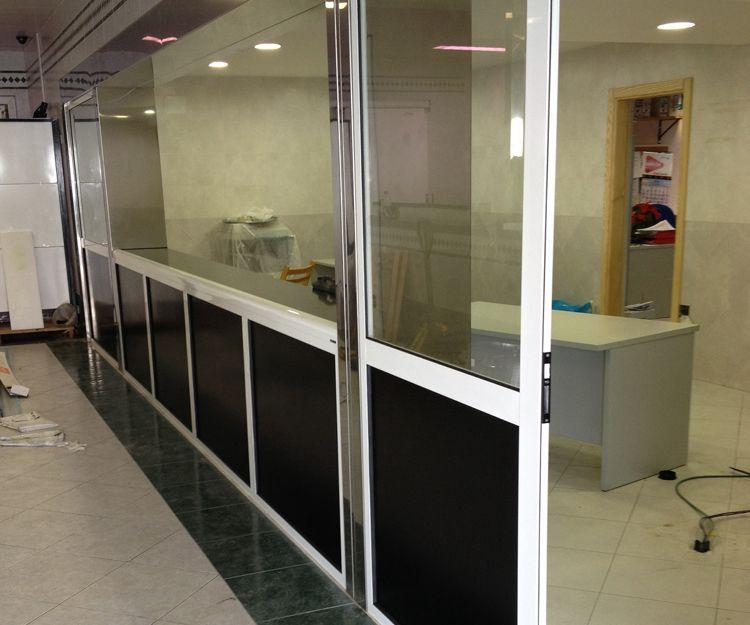 Tabiques para oficina de aluminio o PVC